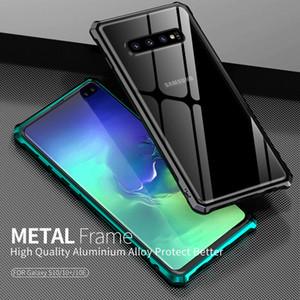 Für note10 S10 plus Argument Luxus Hybrid Aircraft Top Aluminiummetallkasten für Samsung Galaxy note10 Pro S10 Plus-gehärtetes Glas Rückseite