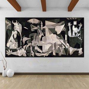 Pablo Picasso, Guernica 1937, HD Canvas Impressão Pintura Decoração New Home Art / (Unframed / Framed)