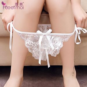 Fate Ammirazione di Interessanti Intimo Sexy Trasparente da Donna Stile Mutande Seduzione Cavallo Apertura Lace T-tipo Pantaloni 7125 A110