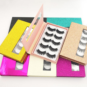 5 pairs Fake 3d Mink Eyelashes False Eyelash Faux Soft Thick Mink Lashes Wispy Long False Lashes Natural Eye Makeup Eyelash Extension