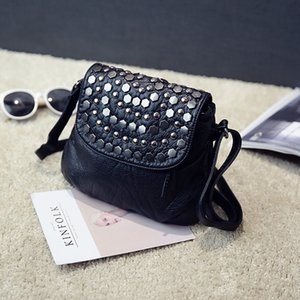 Bag 2020 Women's New Washed Leather Portable Women's Bag Shoulder Messenger Ladies Fashion Soft Leather Mummy