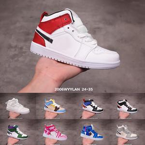 air jordan 1 Travis Scott Nouveau Né Bébé Reverse Swooshes Sneakers Toddlers chaussures Petits Enfants Chaussures De Basketball Infant I grand garçon baskets Fille