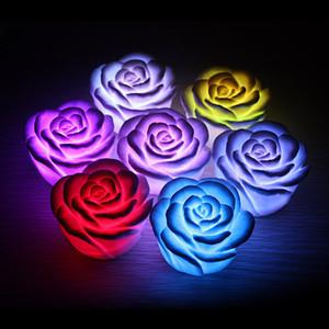 장미 촛불 로맨틱 야간 조명 분위기 밤 램프 색상 변경 애호가를위한 장식 램프 발렌타인 데이 선물 키즈
