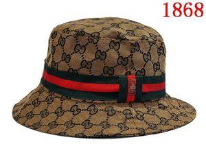 Diseñador de moda letra de cuero sombrero del cubo para hombre para mujer gorras plegables negro pescador playa parasol venta plegable hombre Bowler Cap casual