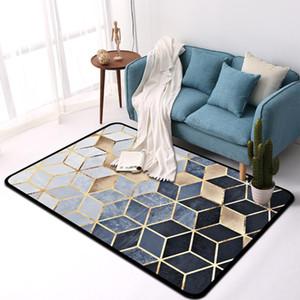 Yfashion Nordic Style Mode Cube Géométrique Tapis pour Salon Table De Chevet