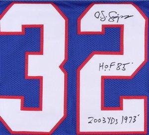 "Portakal suyu Simpson ""1973 2003 Yds"" ""HOF 85"" yazıtlı İmza Jersey gömlek signaturer signatured Signed"