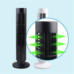 Creative portable USB fan small tower type electric vertical air conditioning tower fan office desktop leafless fan