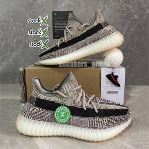 Zapatos de calidad superior Kanye West v2 Tierra Cinder Desierto Negro de lino estático hombres del deporte Yecheil Landmark Citrin reflectante Mujeres zapatillas de deporte corrientes