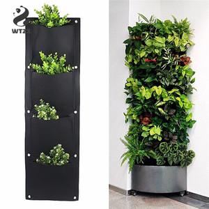 4 et 7-Pocket Felt vertical Jardinage Pots de fleurs Jardinière suspendue Pots Planteur Sur mur de jardin Green Field