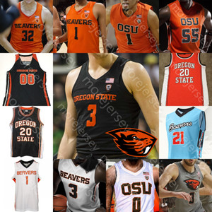 Personalizzato Stato dell'Oregon Beavers OSU Jersey di pallacanestro NCAA College Gary Payton Tinkle Thompson Kelley Reichle Hollins in alternata verde Barry Payton II