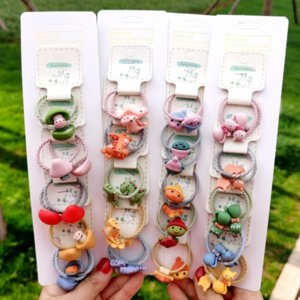 Children's headwear set rubber band girl's rope baby's hair-tied braid rubber band does not wrap hair cute hair rope
