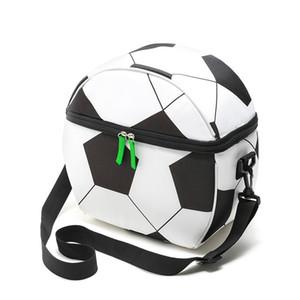 Oxford Futbol Termal Piknik Çantası Taşınabilir İzoleli Lunch Box Futbol Baskı Çanta Cooler İzotermik Çanta Açık Çanta CCA11861 35pcs