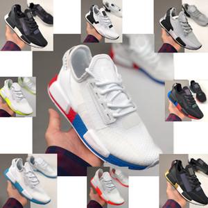 2020 도매 NMD R1 V2 스트라이프 펀치 네온 여름 남성 여성 신발 스포츠 운동화를 실행하기위한 트레이너를 흡입