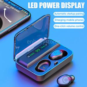 Casque Vitog F9-5 Tws Bluetooth v5. 0 Sans Fil Écouteurs Mini Smart toucher Écouteurs Avec Led Affichage 1200 mAh Puissance Banque casque et Mic