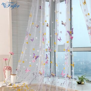 Tulle Curtain Ultra Light Embroidered Butterfly Window Curtains for Living Room Bedroom Elegant Window Drapes Curtains