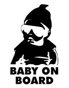 Dica de carro do bebê do bebê adesivos em vinil Janela BOARD etiqueta do carro adesivo 14x9cm