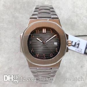 U1 usine islamique montre automatique haute qualité numérique 40MM 5711 montre 316L verre saphir bracelet en cuir en acier inoxydable vente chaude