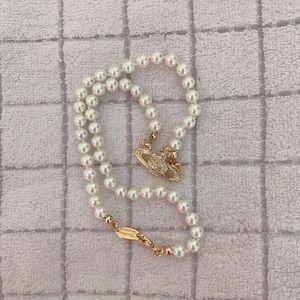 Rhinestone di alta qualità satellitare Collana Donne orbita della catena della perla della collana dei monili di modo per il partito regalo