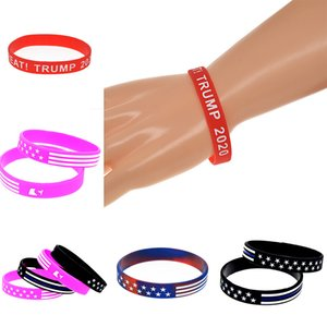 Bracelet en silicone Trump Keep America Great campagne Bracelet Stars and Stripes Bracelet en silicone Camo américain Fashion Bracelet DHB419