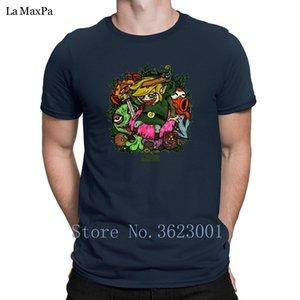 Personalidade Big tamanhos para homens Inside The Miniworld camisetas Formal cabido Camiseta Verão Estilo Homem Básico Fit