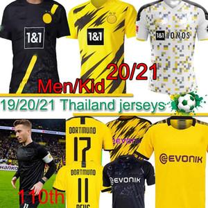 Borussia Dortmund 17 HAALAND REYNA camiseta de fútbol número 110 19 20 21 PELIGRO GOTZE REUS PULISIC Witsel Jersey Paco Alcácer camisa de los hombres del fútbol tailandés