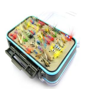 Fly Fishing Flies Lures Set 60pcs / 1set brandneue verschiedene Fliegenfischen lockt Angelgerät