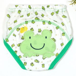 2 PCS Lot Baby Potty Training Pants Underwear Nappies for Toddler Boys Girls Cotton Cloth Diapers Panties Washable Reusable