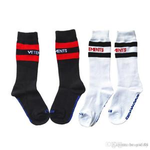 VETEMENTS çorap kapalı Siyah Beyaz vetements Çorap Hip Hop Tarzı Çorap Mektup kanye west Sporcular çorap korku tanrı