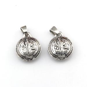 50pcs / lots medalha 3D Bento Michael Dangle encanto Beads Fit pingente de colar DIY Jóias Natal 17.5x26.5mm dom A-563a