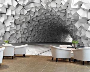 3D 홈 배경 화면 콘크리트 동굴 확장 공간 거실 침실 배경 벽 HD 벽화 벽지