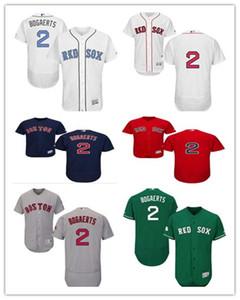 Gewohnheit jeder Name Zahl freies Schiff Baseball Boston 2 Xander Bogaer BostonRed Sox Männer Frauen Jugendliche Red Sox rot weiß hochwertiges Trikot