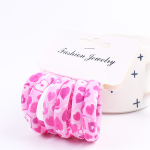 Heart Gifts Graceful Hair Rope Print Beautiful Elasticity High Quality Unique Hair Holder Accessories Cute Color 6PCS Set Flower