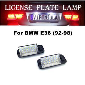 Licencia de Auto placa de la lámpara para BMW E36 92-98 6500K 12V del coche accesorios de luz LED para BMW E36 de la lámpara de la matrícula 87x35x32mm