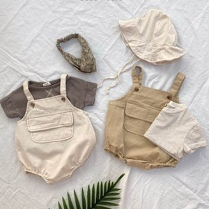 2020 New Baby Girls Boys Cotton Romper Sleeveless Cotton Summer Kids Jumpsuit 6-24 Month