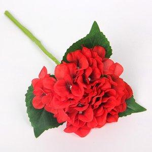 Simulato Hydrangea pezzi di ortensia singolo ramo di nozze di seta fiore della holding della sposa fiore disposizione dei fiori di ortensia EEA397