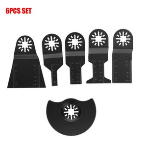 6pcs High-Carbon Stahl Diamantscheibe Oszillierende Klinge Multitools Multi-Tools Saw Disc Wood Cutter Hubkolben Sägeblatt-Werkzeug
