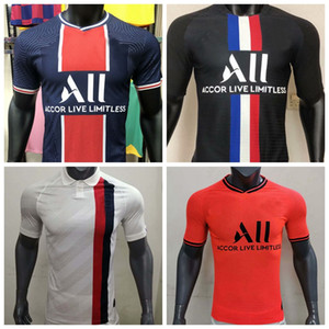 Giocatore Versione 19 20 21 PSG Soccer Jersey 2019 2020 2021 MBAPSE PLAYER PLAYER PARIS Shirt