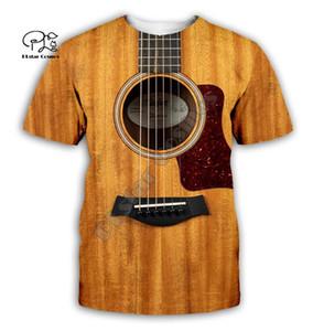 Guitar art Musical instrument 3D full printing fashion t shirt Unisex hip hop style tshirt streetwear casual summer style-1 MX200518