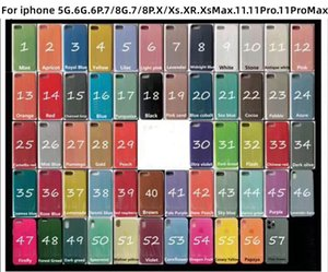 Qulity Solid logo Silicone Case hanno o no Per iPhone 11 Pro Max XS / XR / XSmax / 8 / 8plus / 6 / 6plus / 5SE opzionale con Package