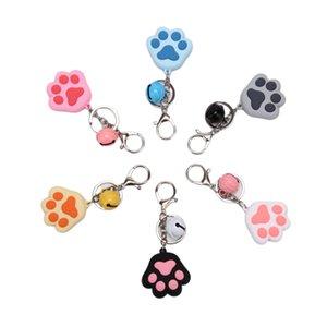 Popular Women Keychain Creative Three-Dimensional Cute Cat Claw Key Chain Key Ring Pendant Soft Rubber Bell Car Bag Pendant Gift