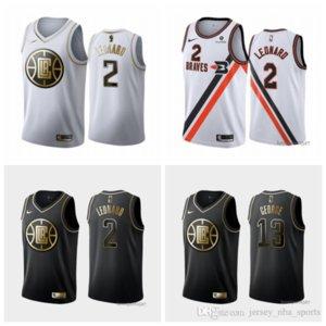 Mens Los AngelesClippers Throwback Jersey Paul 13 GeorgeKawhi 2 Leonard Basketball Shorts Basketball Jersey black navy white 425 0