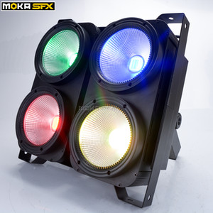 4 * 100 W 4 Eyes LED Blinder Licht DMX COB Publikum blinde Lichter Professionelle Bühnenbeleuchtung für Party Dance Floor