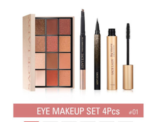 SACE LADY Eye Makeup set Waterproof Mascara Eyeliner Eyebrow pencil 12 colors Eyeshadow Pallete Cosmetics Kit