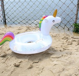 kids Cartoon Inflatable Swim Ring Float Unicorn Raft Seat Swimming Pool For Kids Baby Toys Inflatable Pool Float LJJK2147