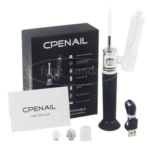 Otantik CPENAIL Vape Kalem Başlangıç Kiti 1100 mAh Dab Rig GR2 Saf Titanyum Taşınabilir Balmumu Buharlaştırıcı Seramik Kuvars Elektrik H E Tırnak Cam bong