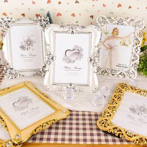 Antique Gold e foto Silver Frame per Picture plastica Photo Painting Telaio Wedding Album fai da te decorazione Wedding Celebration layout Props