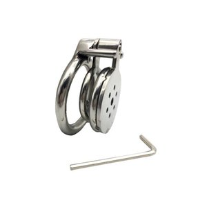 Super Small Stainless Steel Male Chastity Device,Cock Cage With Anti-off Ring Catheter,Penis Rings,BDSM Adult Sex Toys For Man