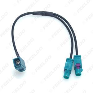 vente en gros voiture 1 voie femelle divisée à 2x voie unique mâle FAKRA2-Z terminaux d'antenne radio avec amplificateur pour unité de tête stéréo stéréo # 6009