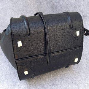 nueva Celin París Francia Classic Moda alas de murciélago paquete paquete de bolsas de cuero fantasma sonrisa avergonzada paquete bolso de Boston