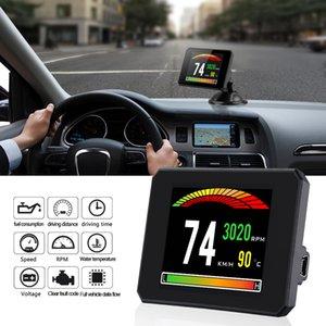 Neue HUD-Anzeige Speed Meter Selbstdiagnosewerkzeug P16 OBD2 Auto-Motor-Drehzahlmesser OBD2 On-Board Computer für Auto